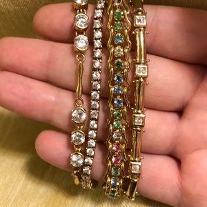 J.C. Penney gold bracelets